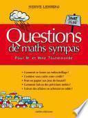Questions de maths sympas pour M et Mme Toutlemonde
