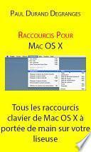 Raccourcis vers Mac OSX