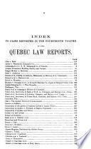 Rapports Judiciaires de Québec
