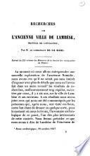 Recherches sur l'ancienne ville de Lambèse