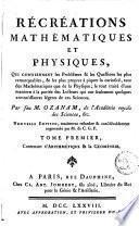 Récréations mathématique et physique