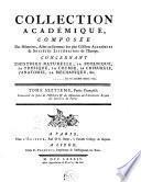 Recueil de mémoires, ou collection de pièces académiques, concernant la médecine, l'anatomie et la chirurgie, la chymie, la physique expérimentale, la botanique et l'histoire naturelle