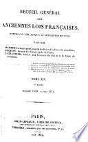 Recueil général des anciennes lois françaises: 1559-1589