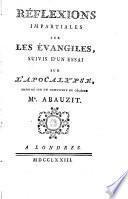Réflexions impartiales sur les évangiles