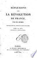 Reflexions sur la Révolution de France