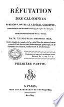 Réfutation des calomnies publiées contre le général Charette