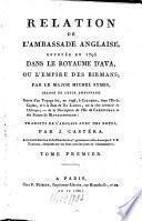 Relation de l'ambassade anglaise, envoyée en 1795 dans le Royaume d'Ava, ou l'Empire des Birmans