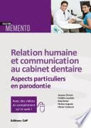 Relation humaine et communication au cabinet dentaire - Editions CdP
