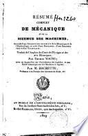 Résumé complet de mécanique et de la science des machines