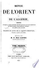 Revue de l'Orient et de L'Algérie