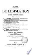 REVUE DE LEGISLATION ET DE JURISPRUDENCE. 1851. TOME DEUXIEME