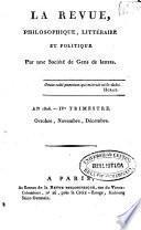 Revue philosophique, litteraire et politique