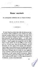 Revue succincte de quelques comptes de la ville d'Ypres des 13e, 14e et 15e siècles