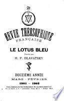 Revue theósophique française. Le lotus bleu