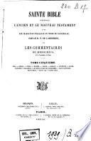 Sainte bible contenant l'ancien et le nouveau testament, avec une traduction française en forme de paraphrase