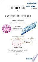 Satires et Epitres