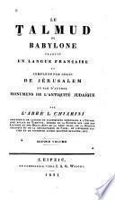 """""""Le"""" Talmud de Babylone"""
