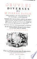 Œuvres diverses de Pierre Bayle