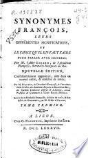 Synonymes françois