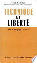 Technique Et Liberte