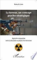 Terreur, un concept psycho-stratégique (La)