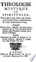 Theologie mystique ou spirituelle