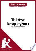 Thérèse Desqueyroux de François Mauriac (Fiche de lecture)