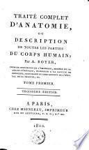 Traité complet d'anatomie, ou Description de toutes les parties du corps humain