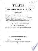 Traité d'architecture rurale
