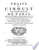 Traité de l'indult du Parlement de Paris