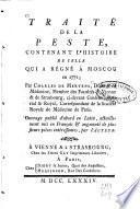 Traité de la peste, contenant l'histoire de celle qui a régné à Moscou en 1771