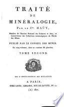 Traité de minéralogie. (Conseil des mines).