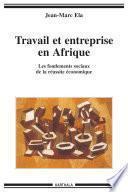 Travail et entreprise en Afrique