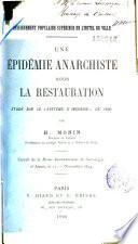 Une épidémie anarchiste sous la Restauration. Le  Système d'incendie  de 1830