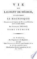 Vie de Laurent de Médicis,