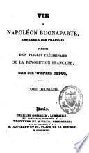Vie de Napoléon Buonaparte