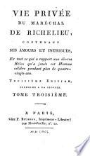 Vie privée du marechal de Richelieu