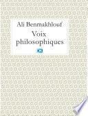 Voix philosophiques (Essais)
