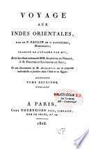 Voyage aux Indes Orientales