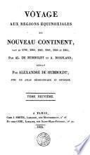 Voyage aux Régions equinoxiales de Nouveau Continent fait en 1799, 1800, 1801, 1802, 1803 et 1804 por Al. de Homboldt et A. Bonpland, 9