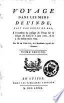 Voyage dans les mers de l'Inde, fait par ordre du roi, à l'occasion du passage de Vénus sur le disque du soleil, le 6 juin 1761, et le 3 du même mois 1769