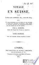 Voyage en Suisse, fait dans les années 1817, 1818 et 1819