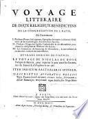 Voyage littéraire de deux religieux benedictins de la congregation de Saint Maur...