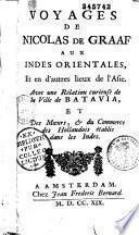 Voyages de Nicolas de Graaf aux Indes orientales, et en d'autres lieux de l'Asie